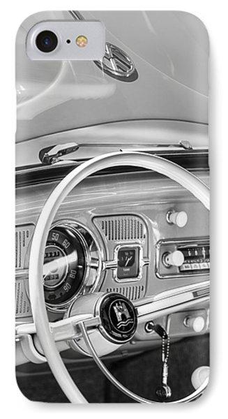 1962 Volkswagen Vw Beetle Cabriolet Steering Wheel Phone Case by Jill Reger