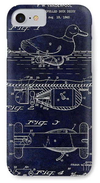 1963 Duck Decoy Patent Drawing IPhone Case
