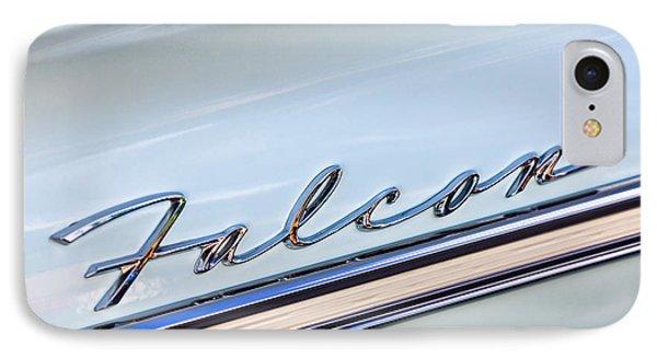 1963 Ford Falcon Futura Convertible  Emblem IPhone Case by Jill Reger