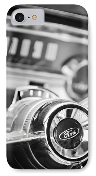 1963 Ford Falcon Futura Convertible Steering Wheel Emblem IPhone Case by Jill Reger