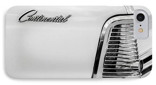 1963 Lincoln Continental Taillight Emblem -0905bw IPhone Case