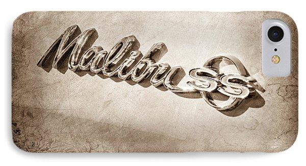 1964 Chevrolet Malibu Ss Emblem IPhone Case by Jill Reger