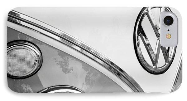 1964 Volkswagen Samba 21 Window Bus Vw Emblem Phone Case by Jill Reger