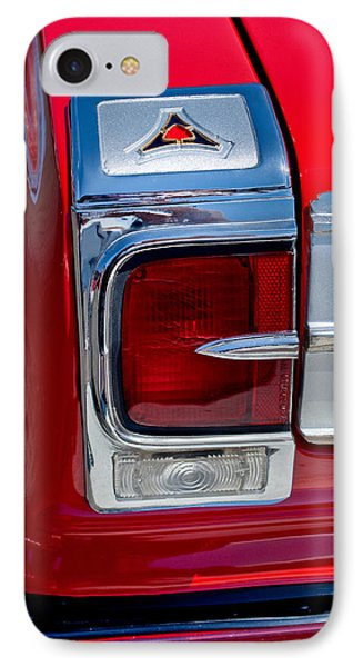 1965 Dodge Coronet 500 Taillight Emblem IPhone Case by Jill Reger