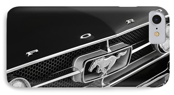 1965 Ford Mustang Grille Emblem IPhone Case by Jill Reger