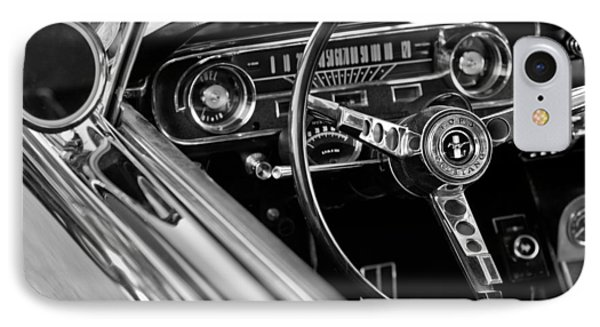 1965 Shelby Prototype Ford Mustang Steering Wheel IPhone Case by Jill Reger