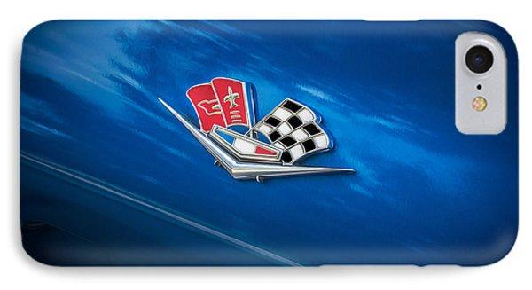1966 Chevrolet Corvette Coupe Emblem   Phone Case by Rich Franco