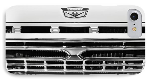 1966 Ford Pickup Truck Grille Emblem IPhone Case by Jill Reger