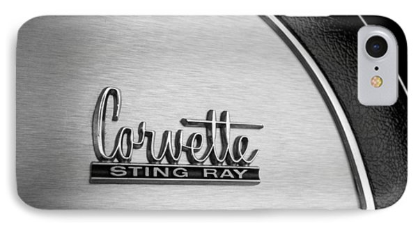 1967 Chevrolet Corvette Glove Box Emblem Phone Case by Jill Reger