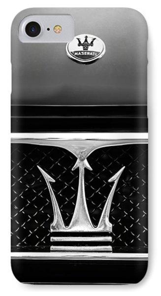 1967 Maserati Ghibli Grille Emblem IPhone Case