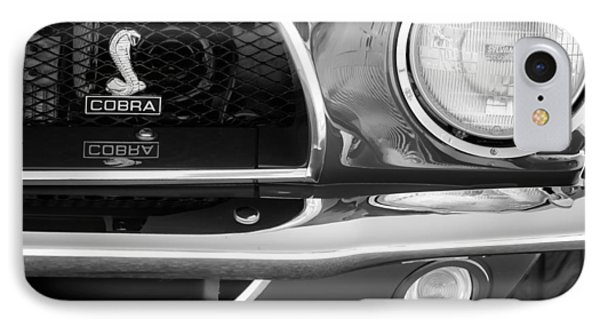 1968 Ford Mustang Fastback 427 Ci Cobra Grille Emblem IPhone 7 Case by Jill Reger