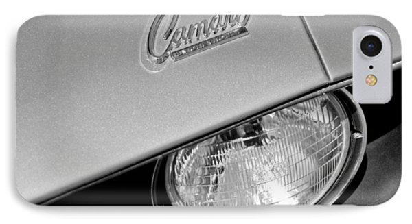 1969 Chevrolet Camaro Headlight Emblem Phone Case by Jill Reger