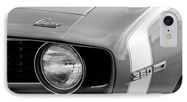 1969 Chevrolet Camaro Ss Headlight Emblems Phone Case by Jill Reger