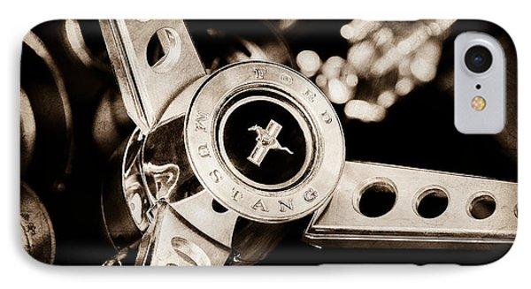 1969 Ford Mustang Mach 1 Steering Wheel Phone Case by Jill Reger