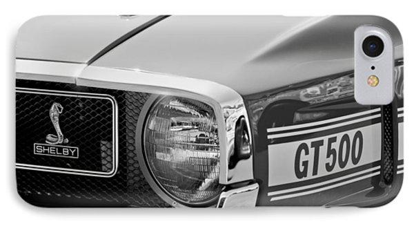 1969 Shelby Gt500 Convertible 428 Cobra Jet Grille Emblem Phone Case by Jill Reger