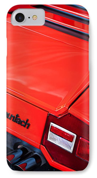 1975 Lamborghini Countach Lp400 'periscopica' Rear Emblem IPhone Case