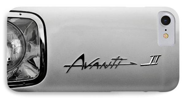 1978 Avanti II Headlight Emblem Phone Case by Jill Reger