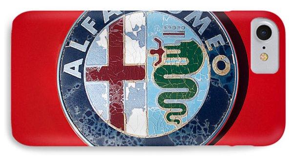 1986 Alfa Romeo Spider Quad Emblem IPhone Case