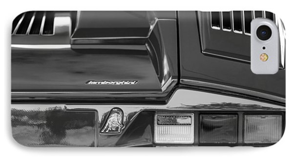 1990 Lamborghini Countach Taillight Emblem IPhone Case