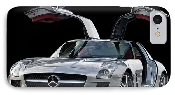 2010 Mercedes Benz Sls Gull-wing IPhone Case