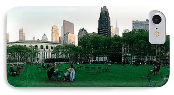 360 Degree View Of A Public Park IPhone Case by Panoramic Images