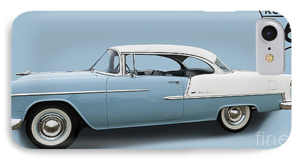 55 Chev Bel-air IPhone Case by Jim  Hatch