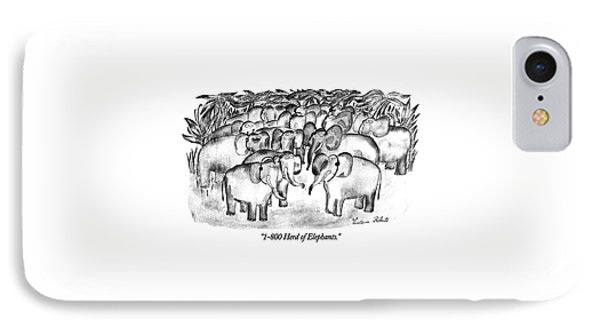 1-800 Herd Of Elephants IPhone Case by Victoria Roberts