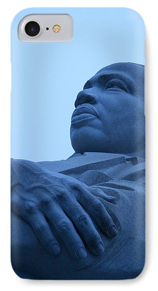 IPhone Case featuring the photograph A Blue Martin Luther King - 1 by Cora Wandel