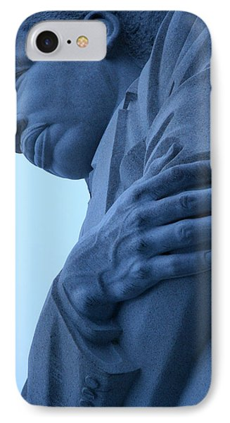 IPhone Case featuring the photograph A Blue Martin Luther King - 2 by Cora Wandel