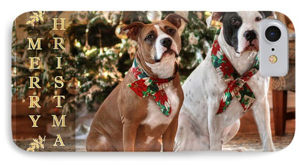 A Bubba And Kensie Christmas IPhone Case by Shelley Neff