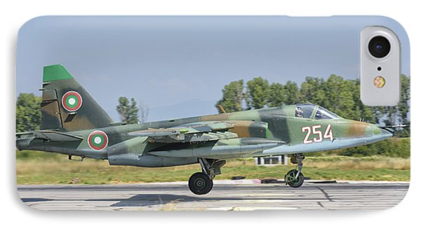 A Bulgarian Air Force Su-25 Jet IPhone Case by Giovanni Colla