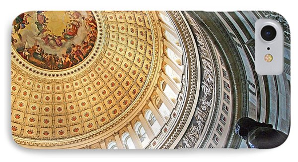 IPhone Case featuring the photograph A Capitol Rotunda by Cora Wandel