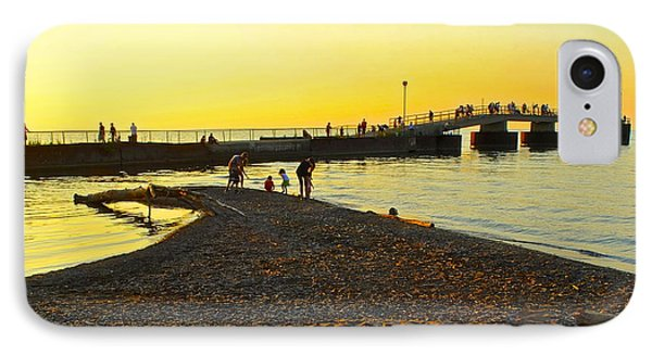 A Day At The Beach IPhone Case by Frozen in Time Fine Art Photography