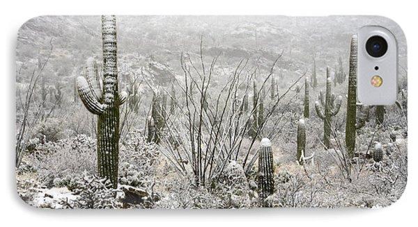 A Desert Snow Day  IPhone Case