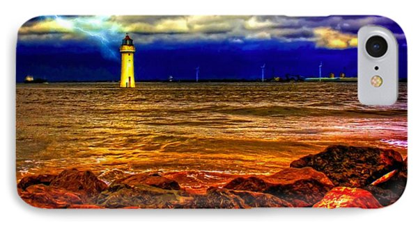 Fort Perch Lighthouse IPhone Case by Ken Biggs