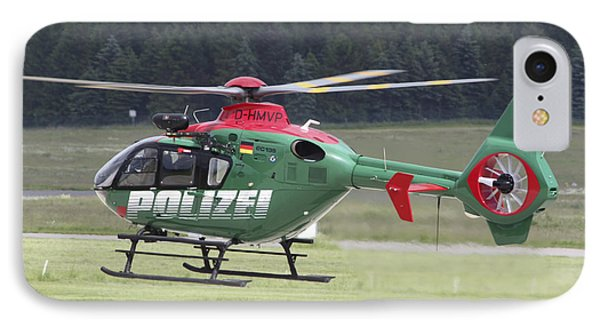 A Eurocopter Ec135 Used By German Phone Case by Timm Ziegenthaler