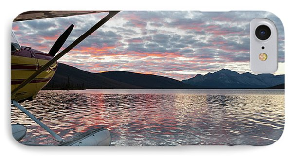 A Floatplane In Scenic Takahula Lake IPhone Case by Hugh Rose