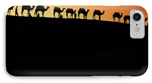 A Group Of Camel Herders IPhone Case by Piper Mackay
