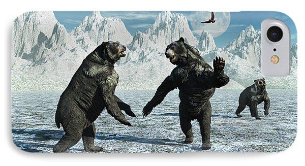 A Pair Of Arctodus Bears IPhone Case