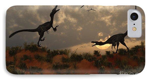 A Pair Of Velociraptors Involved IPhone Case