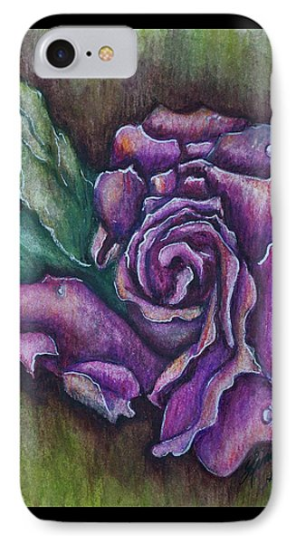 A Rose    IPhone Case by Linda Simon