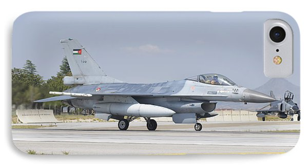 A Royal Jordanian Air Force F-16 IPhone Case by Giovanni Colla