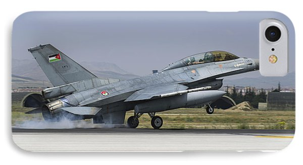 A Royal Jordanian Air Force F-16bm IPhone Case by Daniele Faccioli