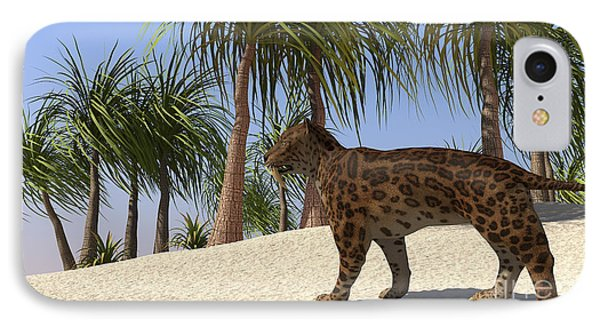 A Saber-tooth Tiger In A Tropical IPhone Case by Kostyantyn Ivanyshen