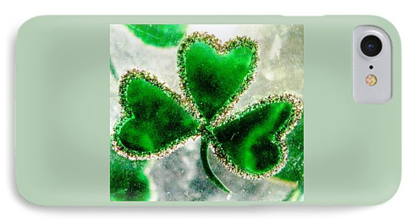 A Shamrock On Ice IPhone Case by Angela Davies