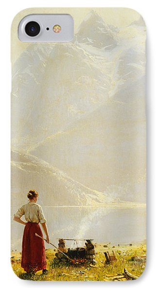 A Summer Day On A Norwegian Fjord IPhone Case