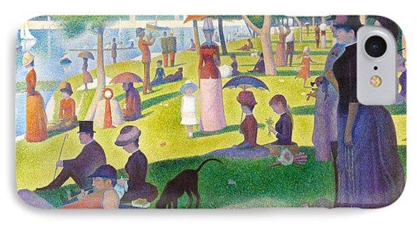 A Sunday On La Grande Jatte IPhone Case by Georges Seurat