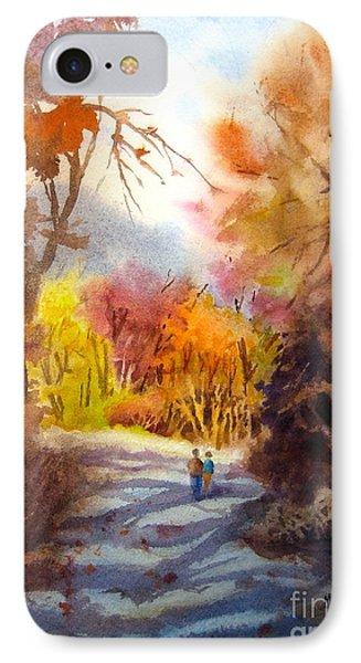 A Walk In The Fall Phone Case by Mohamed Hirji