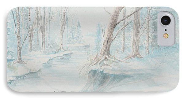 A Winter Path IPhone Case by Cathy Long