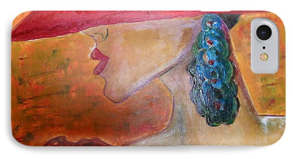IPhone Case featuring the painting Abby Marion by Iris Gelbart
